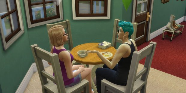 Alice and Pip in the Sims 4