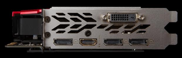MSI GTX 1070Ti Gaming ports
