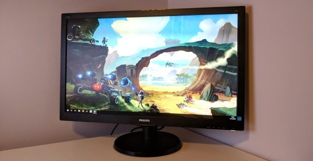 The Philips 273V5LHAB might only have a 1920x1080 resolution, but its TN panel is surprisingly good, making it excellent value at £150