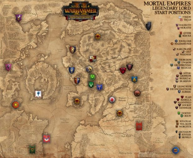 This is Mortal Empires' map, with starting positions. It looks rather comprehensible from this perspective, but in play it feels much more expansive.