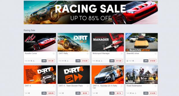 racing sale week humble store