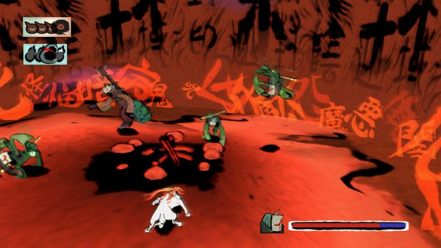 Okami HD imp battle