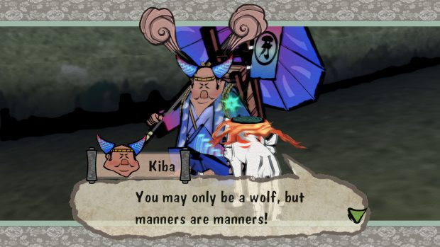 Okami HD manners