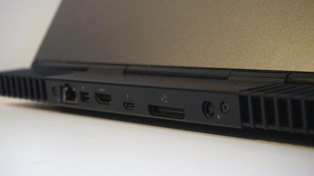 Alienware 13 rear ports