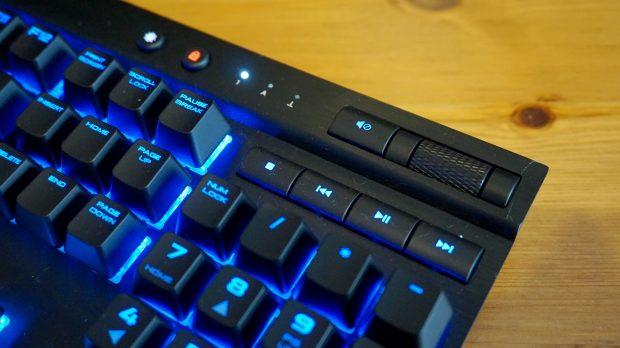 Corsair K70 Lux RGB media keys