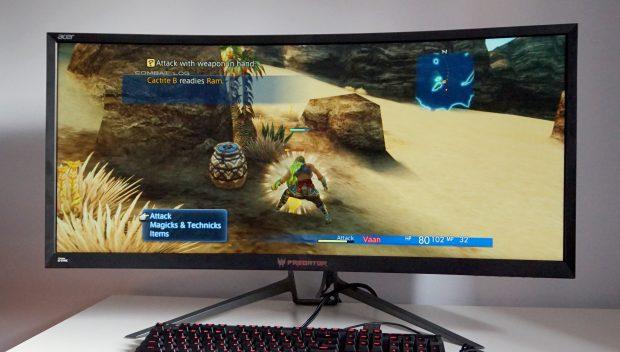 Acer Predator Z35p face on