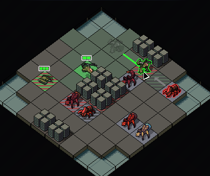 This early mockup shows attempts to show attack locations and the way movements will update.