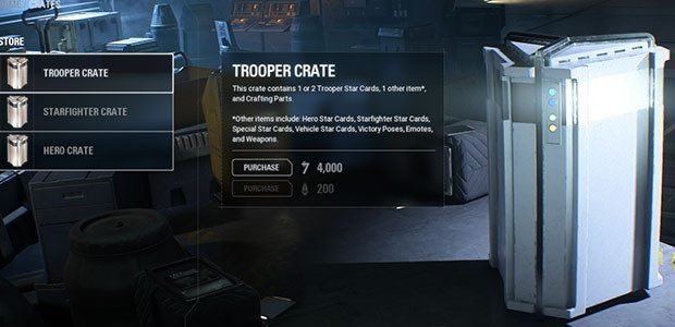 A now-rare loot crate. Likely to only contain clothes, or coupons for clothes