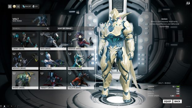 Warframe: How to accumulate warframes and equip mods