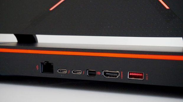 HP Omen X 17 ports