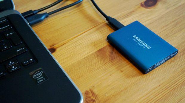 Samsung T5 laptop