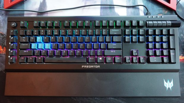 Cursive letters on a gaming keyboard? Whatever next... (click to expand)