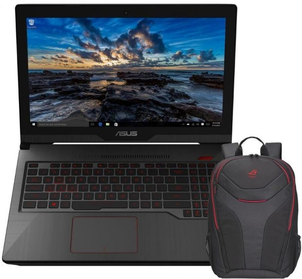 Asus with backpack