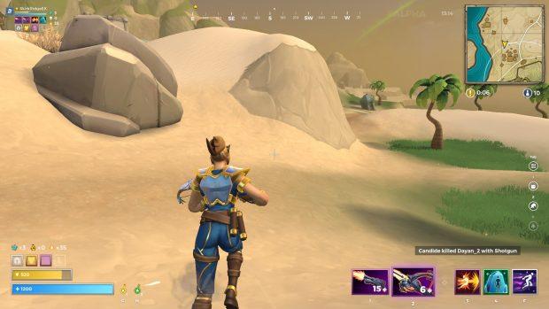 Mage running through the desert