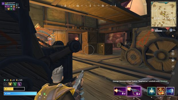 Player is crafting a legendary item and hiding to ambush potential enemies
