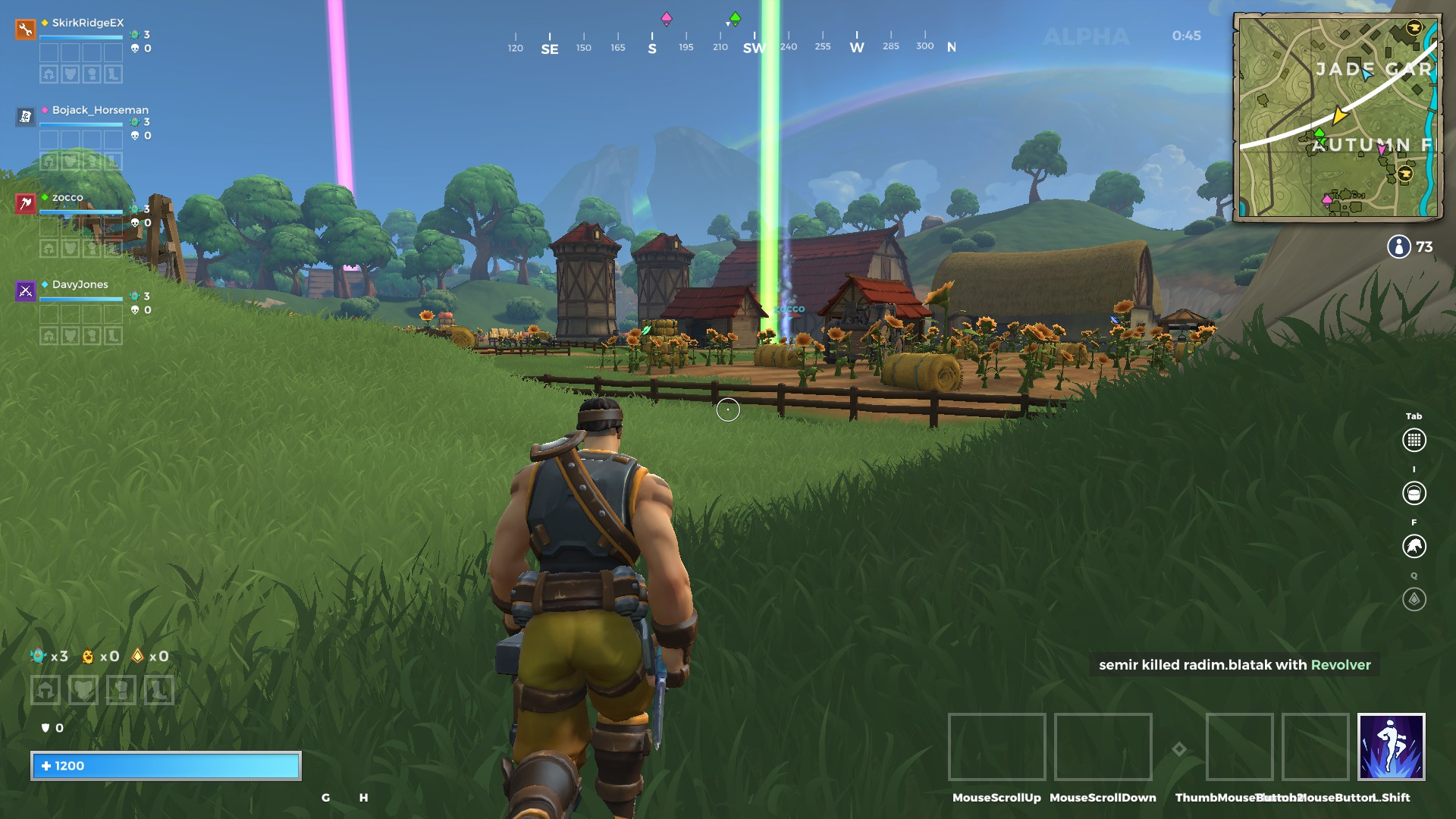 A view of the Autumn Fields in Realm Royale