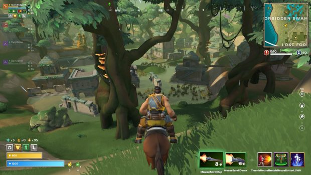 A view of the Forbidden Swamp in Realm Royale