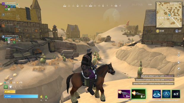 A view of Gun Town in Realm Royale