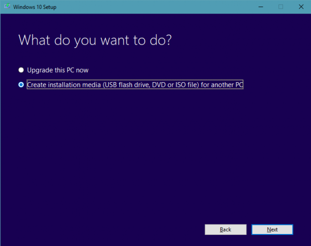 How to install Windows 10 step 1