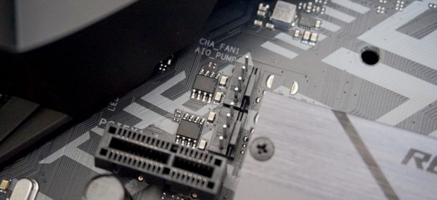 To connect your fans to your motherboard, you'll need to look for headers like this.
