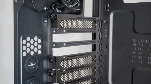 Most graphics cards need at least two backplate spaces these days...