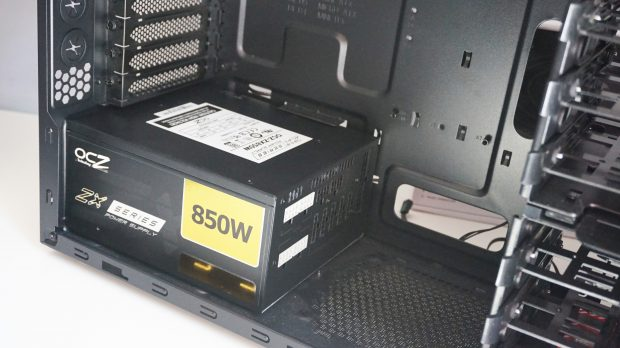 Most cases position the power supply at the bottom
