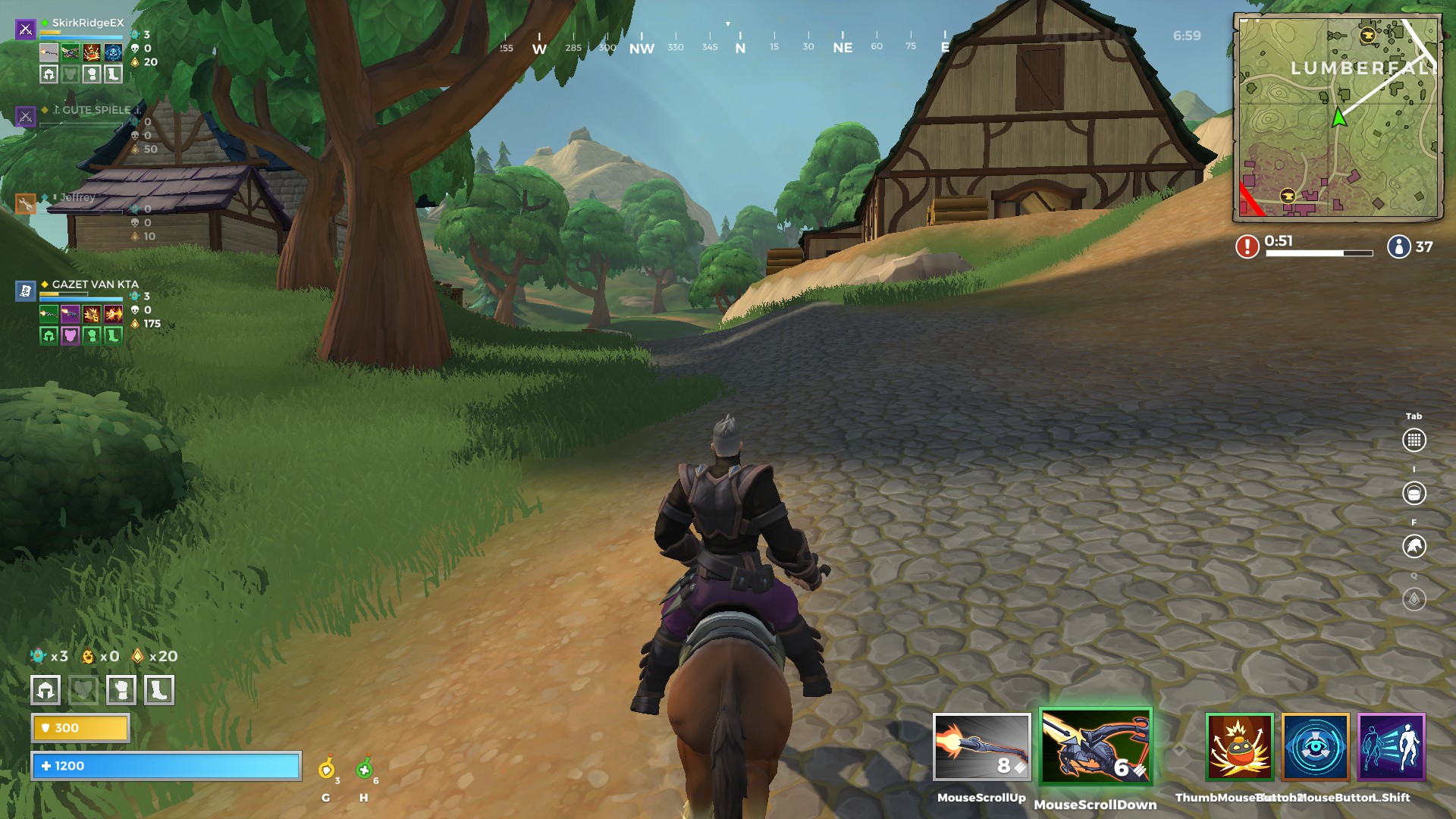 A view of Lumberfall in Realm Royale