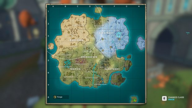 The Realm Royale map
