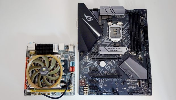Some chipsets dictate the size of the motherboard as well, so make sure you get the right one for your case.