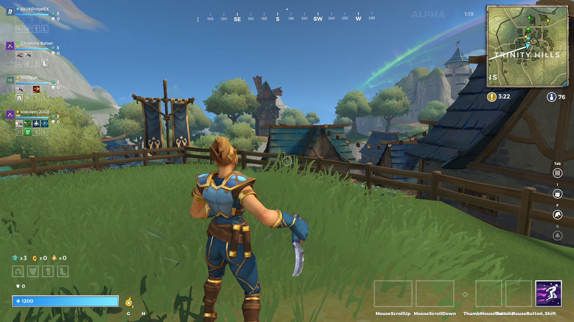 A view of Trinity Hills in Realm Royale