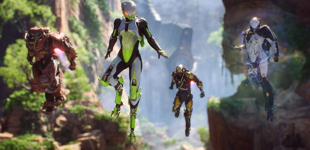 The four Javelin exosuits for Anthem