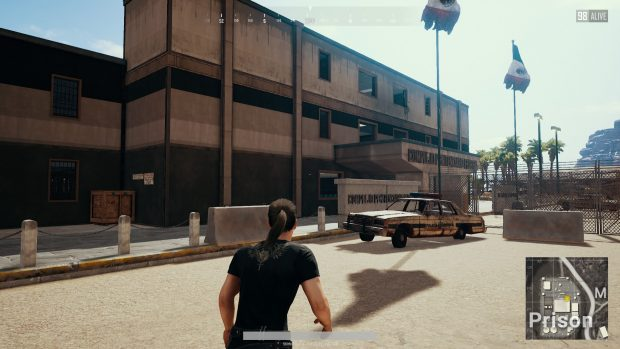 Player outside the prison