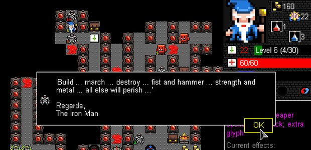 A quote from The Iron Man from Desktop Dungeons: