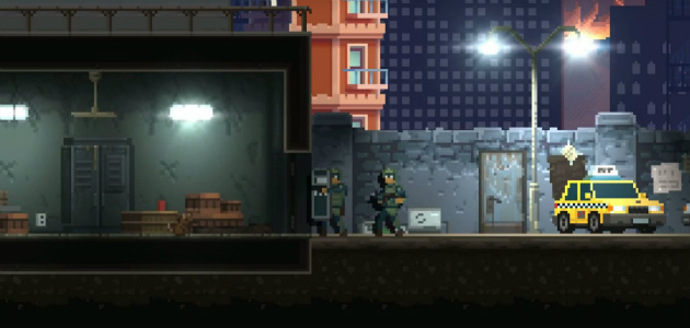 door kickers getting a side scrolling spin off rock On door kickers action squad