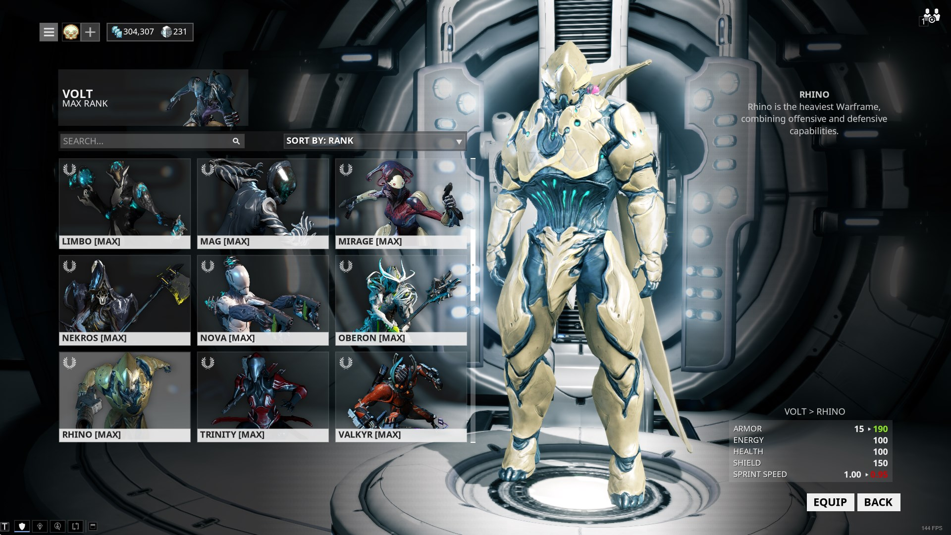 Warframe frames and mods: purchase warframes, equipping mods