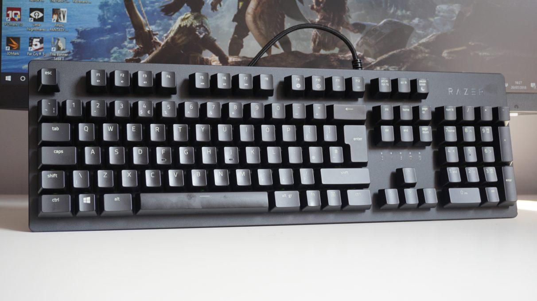 A photo of the Razer Huntsman gaming keyboard.