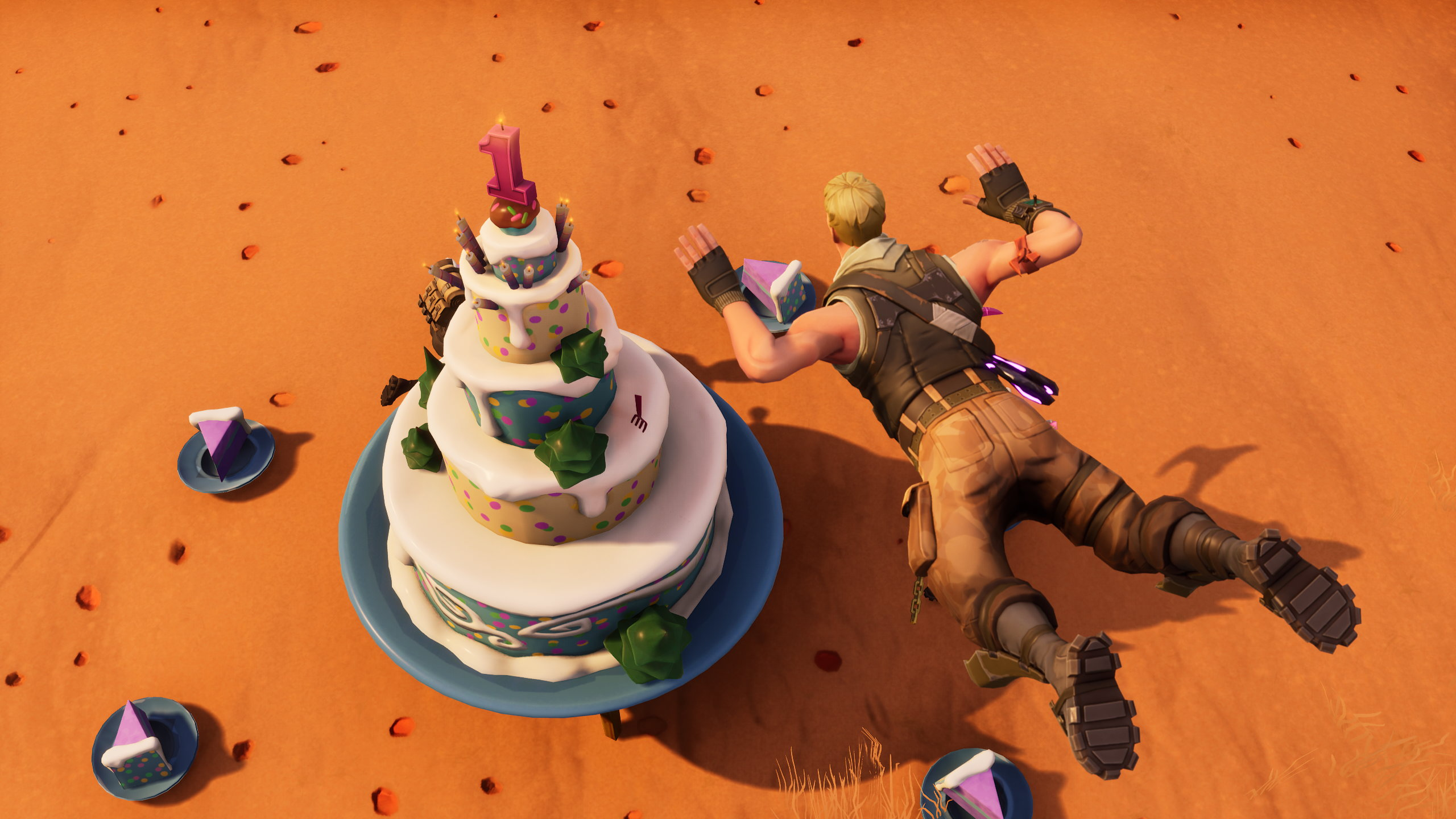 10 Bday Cake Fortnite Fortnite Season 4 Week 9 Map Location