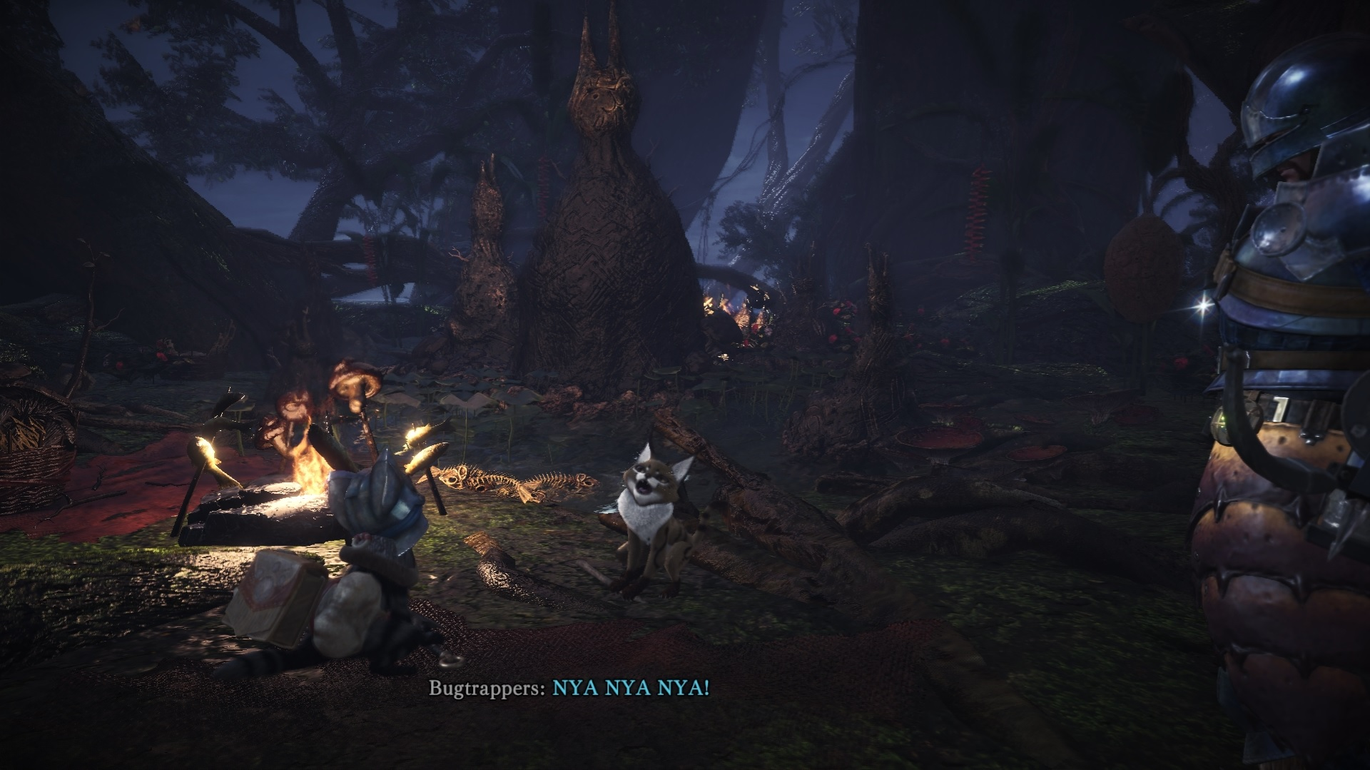 Player is encountering the Bugtrapper Grimalkyne