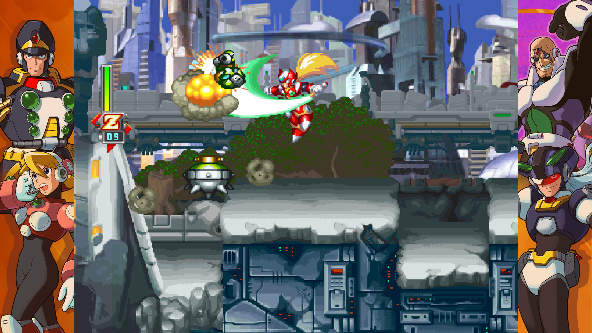 Zero: He's like Mega Man, but better.
