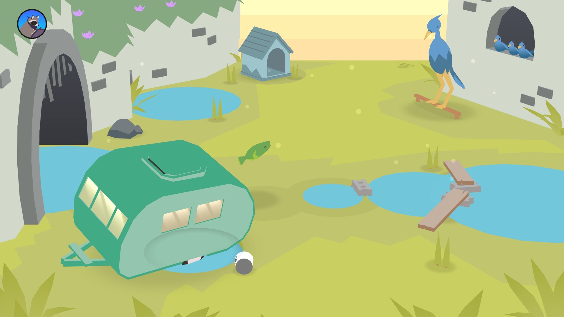 How Donut County's hole works | Rock Paper Shotgun