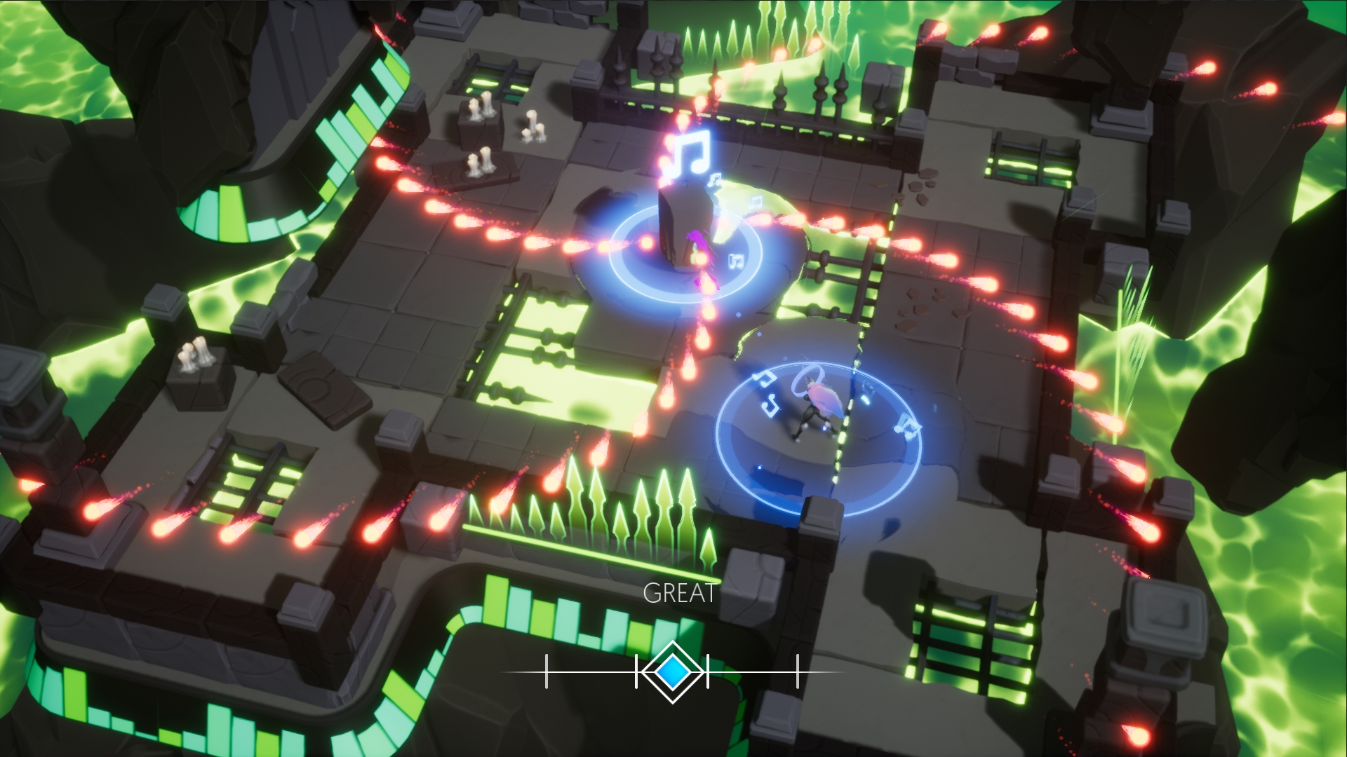 Musical Shooter Soundfall Seems To Be Like Nex Machina By The Use