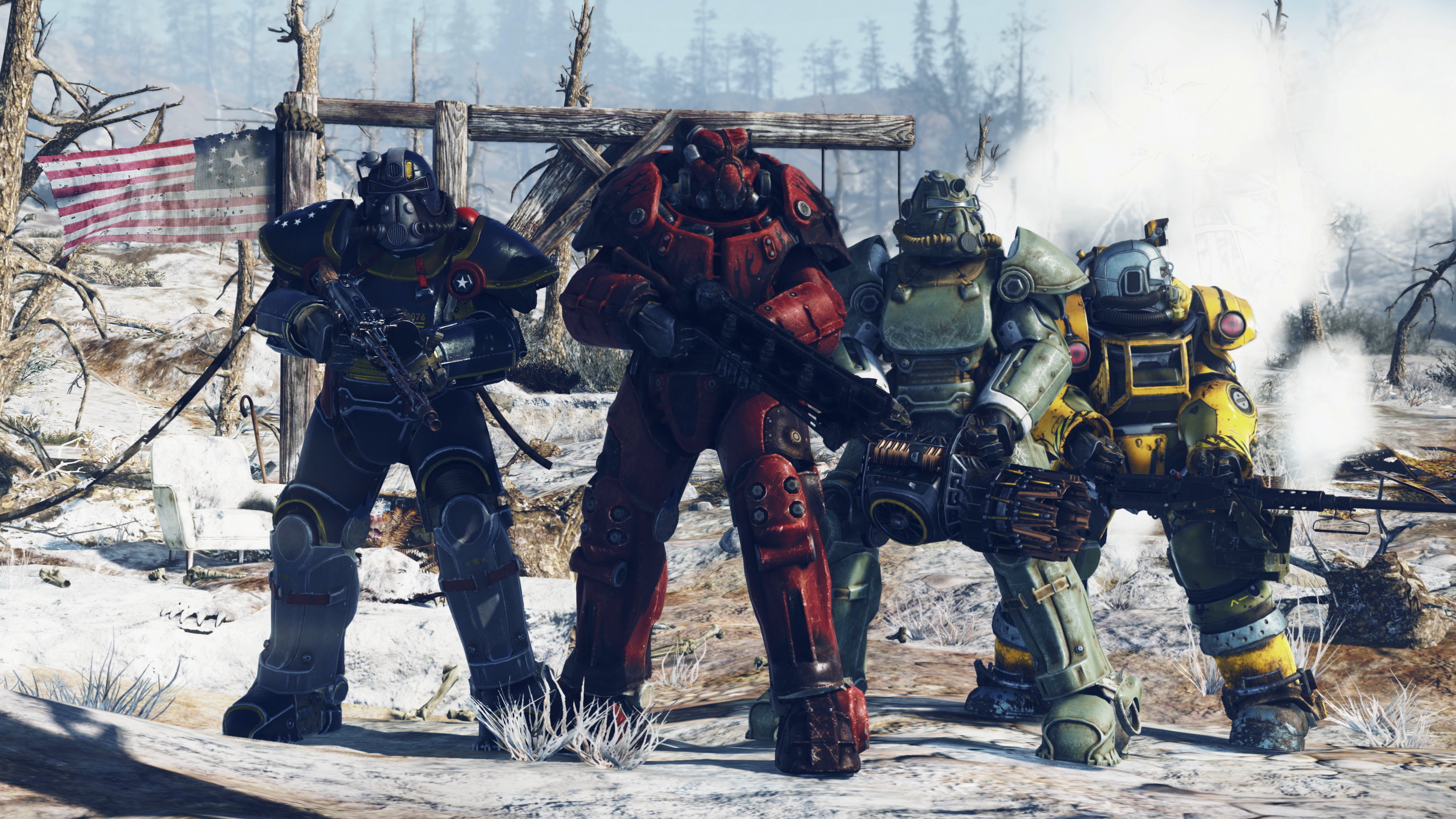 fallout 76 power armour locations all the power armor locations