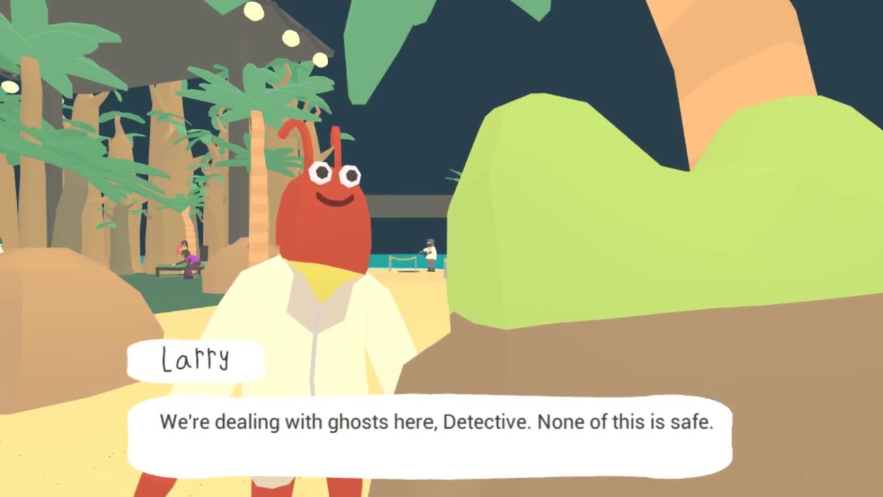 A science friend lends their expertise to the detective, as if he requires it.