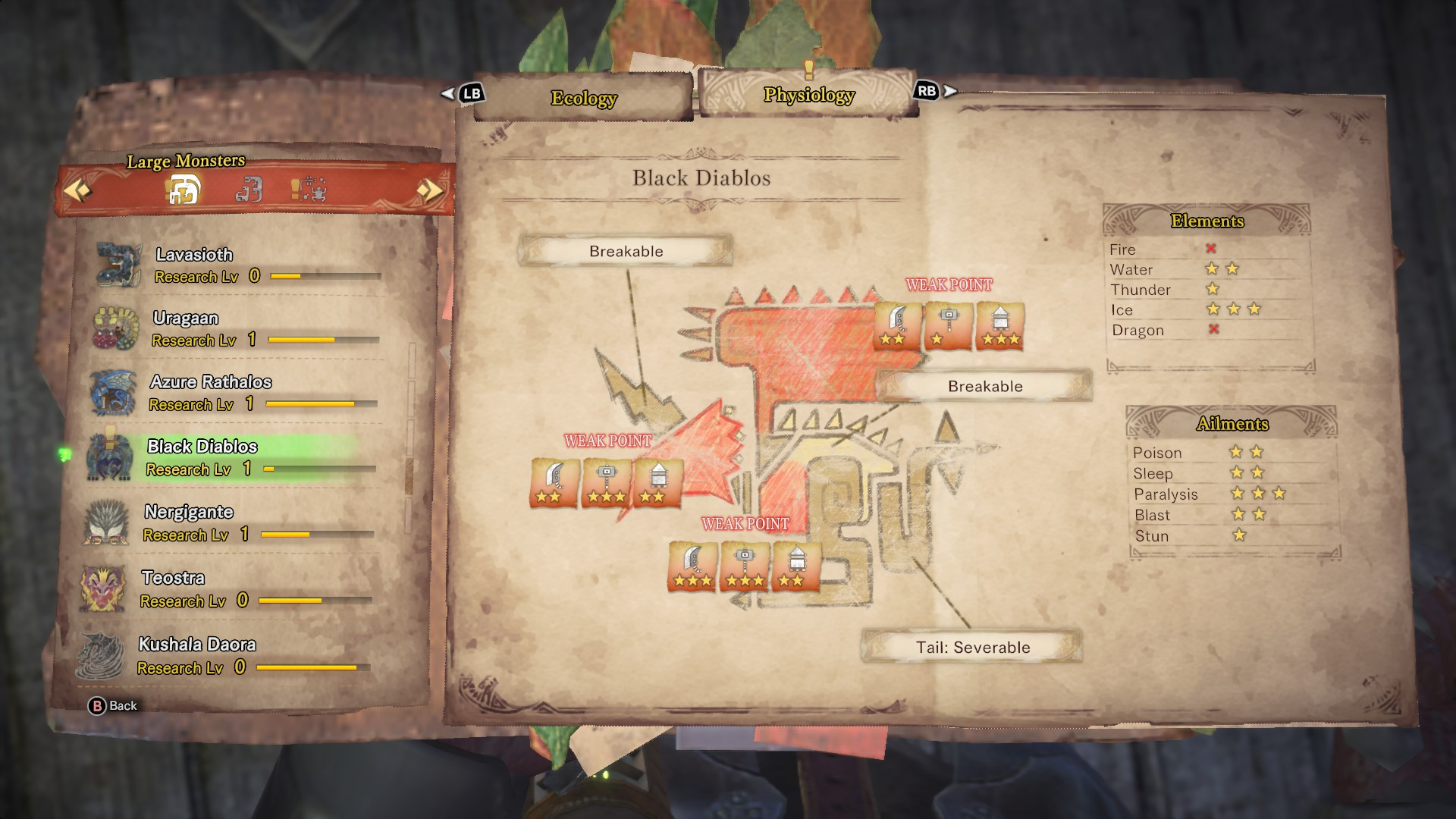 Black Diablos' entry in the monster field guide.