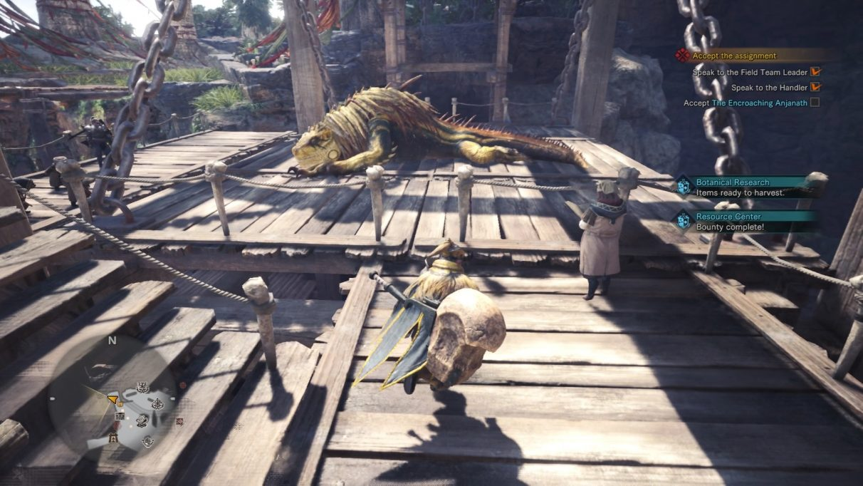 Captured Great Jagras in Astera.