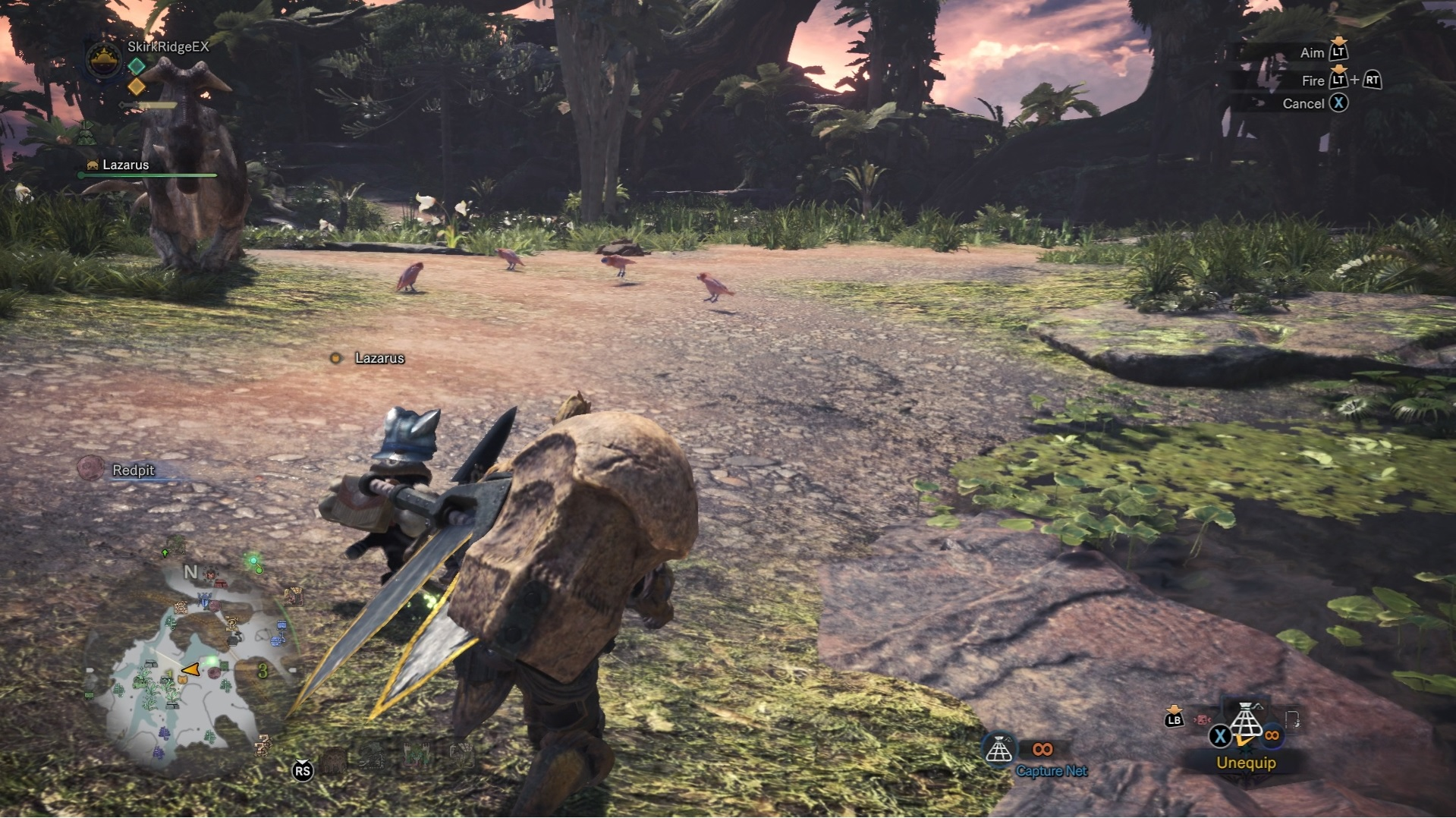 Player is attempting to capture pink birds.