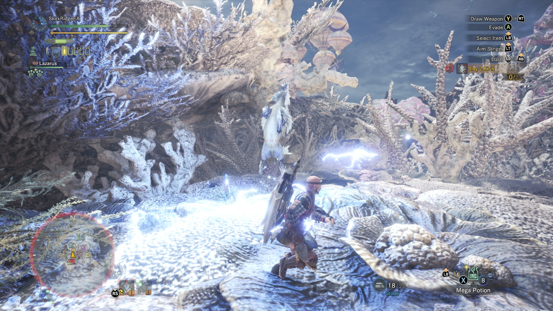 Kirin covering the battlefield with lightning.