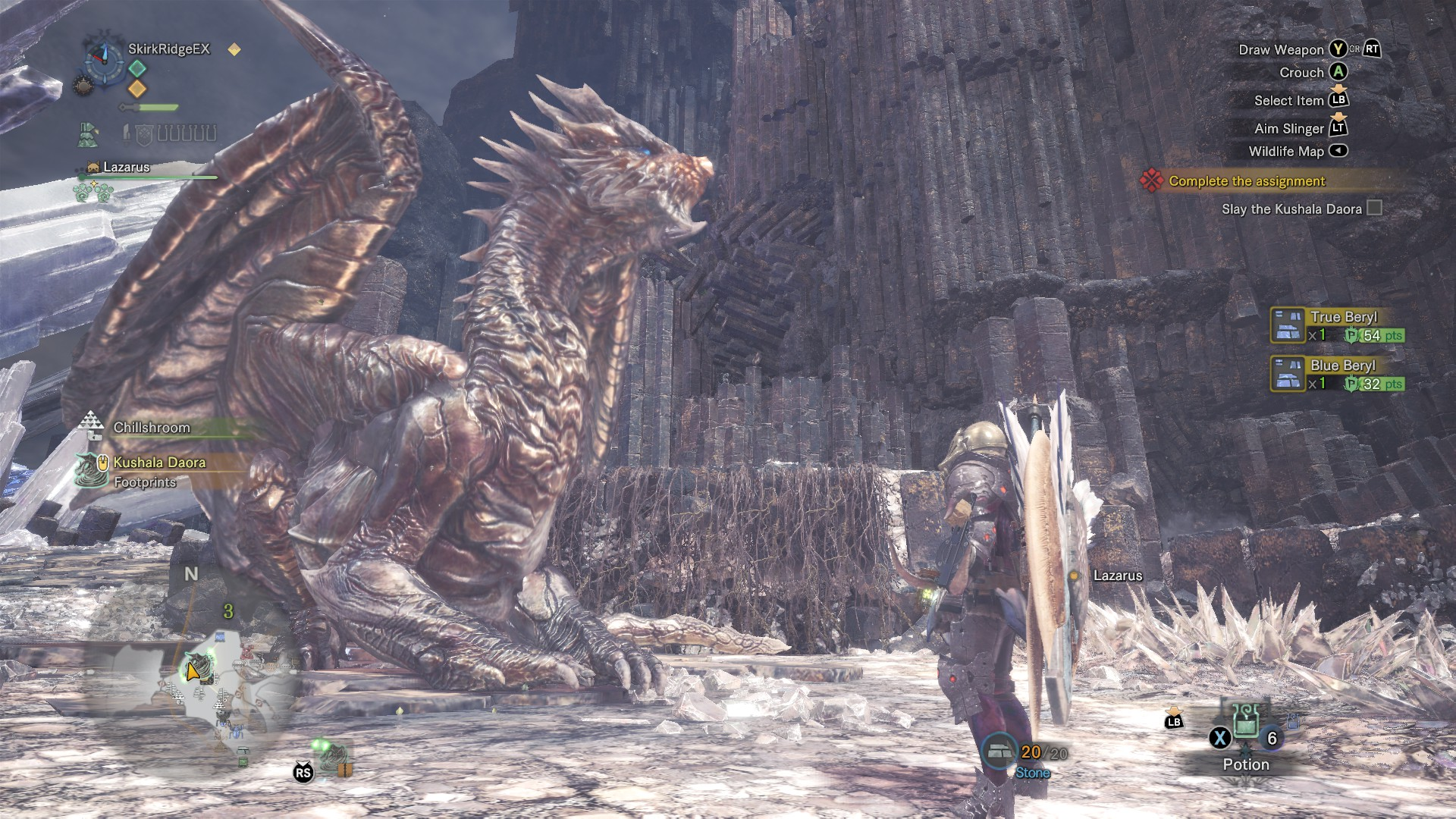 Kushala Daora sits there, waiting patiently for the hunter to attack.