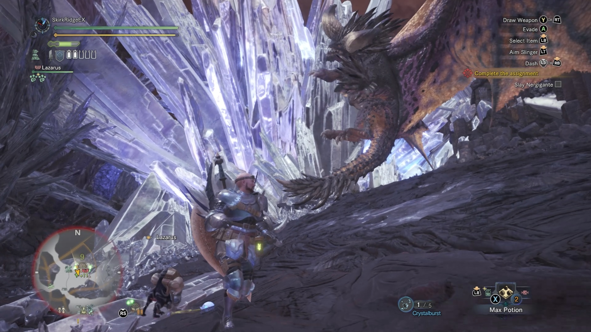 Nergigante in mid-flight, about to execute its dive bomb attack.