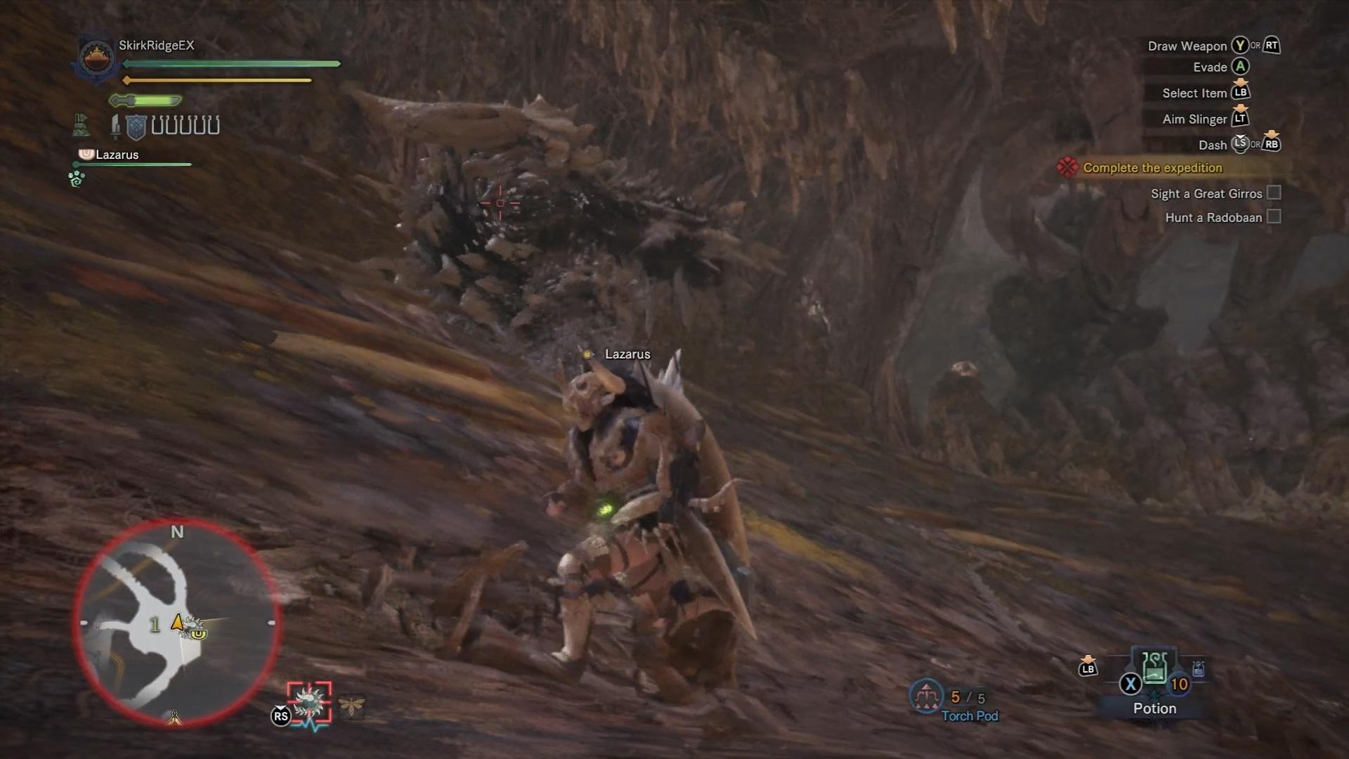 Radobaan using its rolling attack